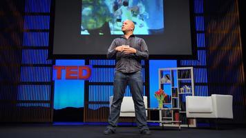 Derek Sivers delivering a TED